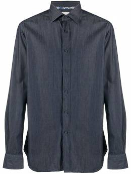 Xacus джинсовая рубашка на пуговицах 732ML71915