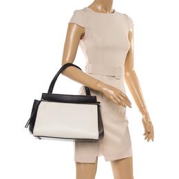 Celine Black/White Leather Small Edge Bag 355926