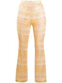 Missoni Mare брюки кроя слим с вышитым узором зигзаг MMI00006BR00C4