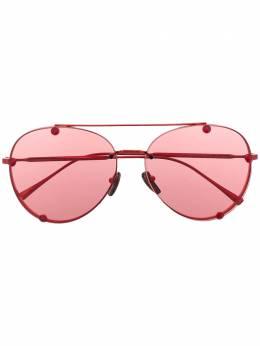 Valentino Eyewear солнцезащитные очки-авиаторы VA2045 с кристаллами VA2045305484