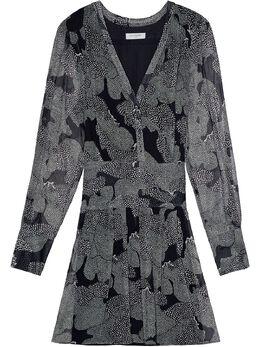 Equipment платье Lisle с абстрактным принтом 203007568DR01861B