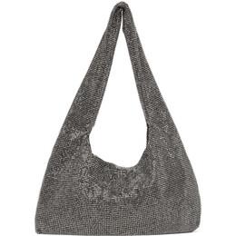 Kara Black Hematite Mesh Armpit Bag HB276-0422