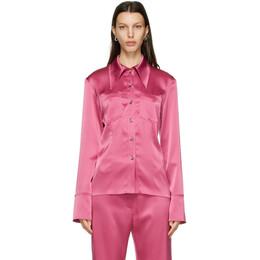 Nanushka Pink Satin Tippi Shirt NW20FWSH03334