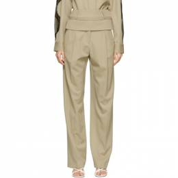 Christopher Esber Beige Double Belted Trousers F20P04