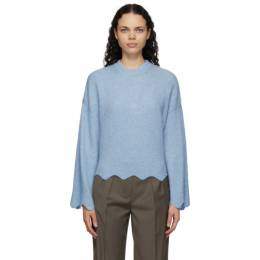 3.1 Phillip Lim Blue Wool and Alpaca Scalloped Sweater E211-7782LAL