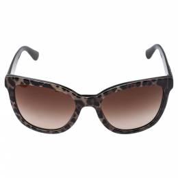 Dolce&Gabbana Black/Brown DG4190 Gradient Leopard Print Cat Eye Sunglasses 357024