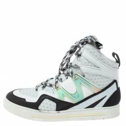 Marc By Marc Jacobs Monochrome Leather And Mesh High Top Sneakers Size 38 358212