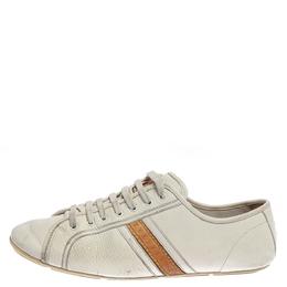 Louis Vuitton White Leather Logo Acrobat Sneakers Size 38 358073