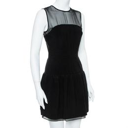 Diane Von Furstenberg Black Yarra Mini Dress S 357048