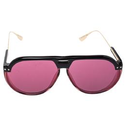 Dior Pink/Black DiorClub3 Aviator Sunglasses 357384