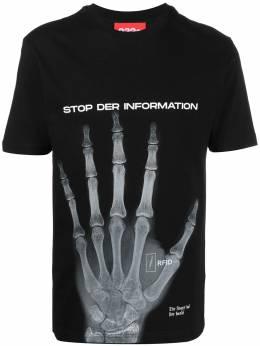 032C футболка с принтом FW044TP009