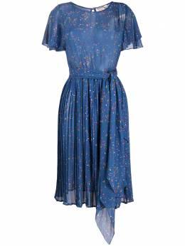 Valentino Pre-Owned платье с плиссированной юбкой и принтом 0710202010