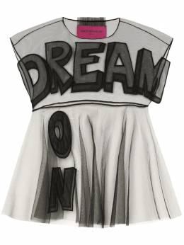 Viktor & Rolf прозрачная блузка с аппликацией Dream On DREAMONTIW003B99A18