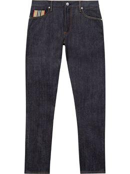 Burberry прямые джинсы с отделкой Icon Stripe 8025812
