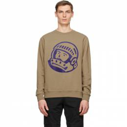 Billionaire Boys Club Taupe Chainstitch Astro Logo Sweatshirt B20435