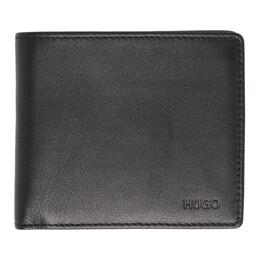 Hugo Black Subway 8-Pocket Bifold Wallet 50312006