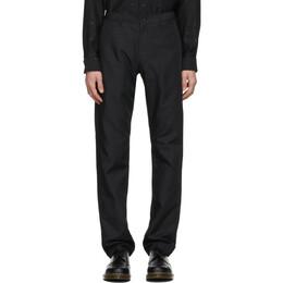 Comme Des Garcons Homme Deux Black Gabardine Trousers DF-P040-051