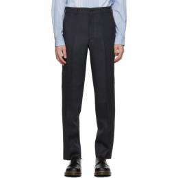 Comme Des Garcons Homme Deux Grey Wool Yarn-Dyed Trousers DF-P036-051