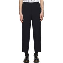 Comme Des Garcons Homme Deux Navy Oxford Yarn Trousers DF-P051-051
