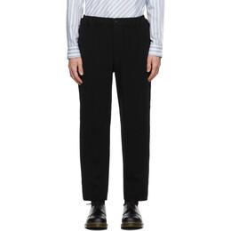 Comme Des Garcons Homme Deux Black Wool Serge Thick Trousers DF-P041-051