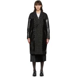 Junya Watanabe Black Faux-Leather Coat JF-C009-051