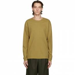 Issey Miyake Men Taupe Cotton Long Sleeve T-Shirt ME08JK932