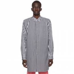 Comme Des Garcons Homme Plus Black and White Broadcloth Stripe Shirt PF-B016-051
