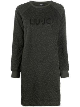 Liu Jo платье-свитер с леопардовым узором TF0170J6087
