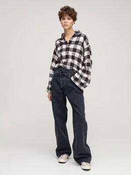 Хлопковая Рубашка В Клетку R13 73I3KH007-QlVGRkFMTyBQTEFJRA2