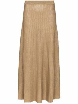 Joseph плиссированная юбка миди с люрексом JF005178