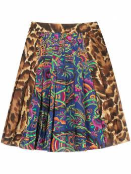 Versace Pre-Owned плиссированная юбка с анималистичным принтом CVB206933