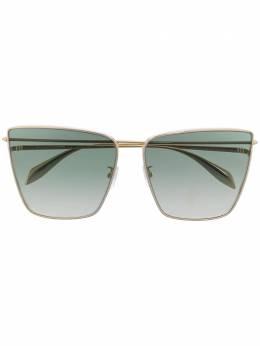 Alexander McQueen Eyewear солнцезащитные очки в квадратной оправе AM0298S