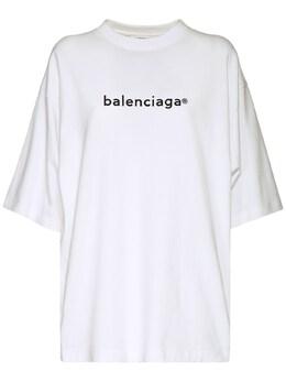 Футболка Из Хлопкового Джерси Balenciaga 73IIUU095-OTA0MA2