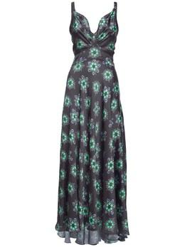 Платье Из Атласа С Принтом Paco Rabanne 73IMDQ018-VjA2NQ2