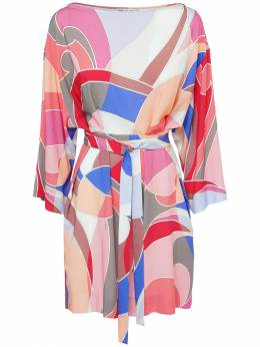 Платье С Принтом И Поясом Emilio Pucci 73IM5T042-MDUx0