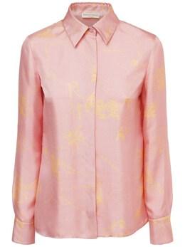 Рубашка Из Шёлковой Саржи С Принтом Emilio Pucci 73IM5T040-MDA00