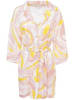 Платье Из Хлопка С Поясом Emilio Pucci 73IM5T029-MDUy0
