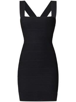 Платье Из Джерси Herve Leger 73IL5V019-QkxBQ0sgMDAx0