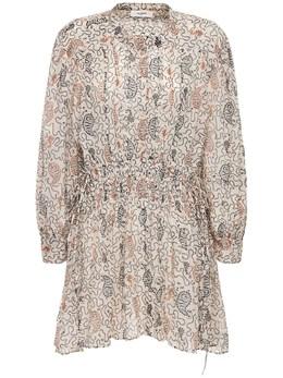 Платье Из Хлопка С Принтом Anaco Isabel Marant Etoile 73IE1B056-MjNFQw2