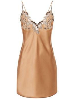 Платье Из Шёлка И Кружева La Perla 73I338001-VzIzNA2