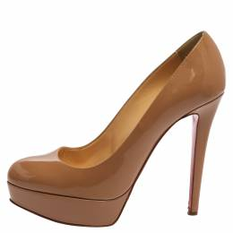Christian Louboutin Beige Patent Leather Bianca Pumps Size 40 359753