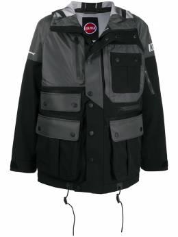 White Mountaineering куртка в стиле колор-блок с карманами CS1016QY