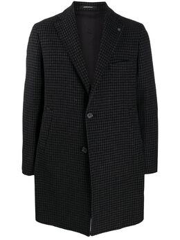 Tagliatore однобортное пальто в ломаную клетку CSBM13X77FIC228