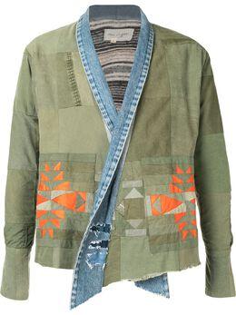 Greg Lauren куртка в технике пэчворк с лацканами-шалькой AM030