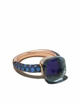 Pomellato золотое кольцо Nudo с лазуритом и топазом AB904O6TLTTK