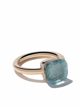 Pomellato 18kt rose & white gold Nudo light blue topaz ring AA110O6OY