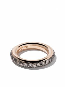 Pomellato 18kt rose gold Iconica brown diamond ring AB712PPBR