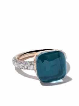 Pomellato золотое кольцо Nudo с топазом и бриллиантом AB401B9O6TL