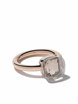 Pomellato 18kt rose & white gold Nudo white topaz ring AA110O6TB