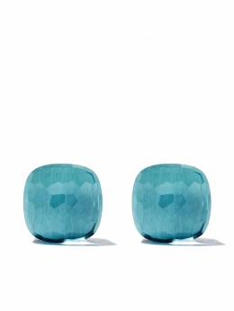 Pomellato 18kt white & rose gold Nudo light blue topaz stud earrings OB601O6OY